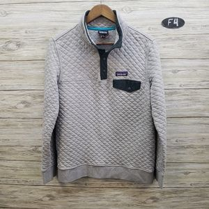 Patagonia Gray Cotton Quilt Snap T Pullover